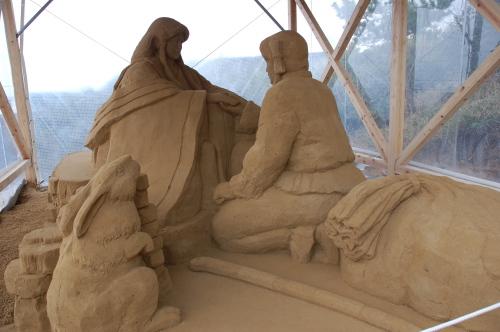 白兎 砂像
