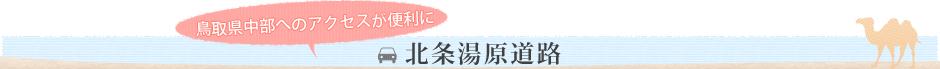 鳥取県中部へのアクセスが便利に 北条湯原道路