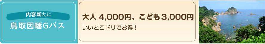 鳥取因幡Gバス料金