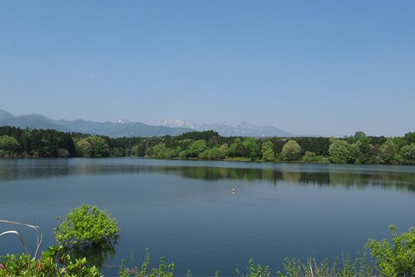 大山池でカヌー体験