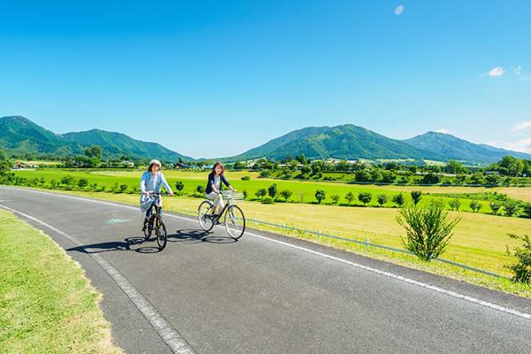 蒜山高原でサイクリング