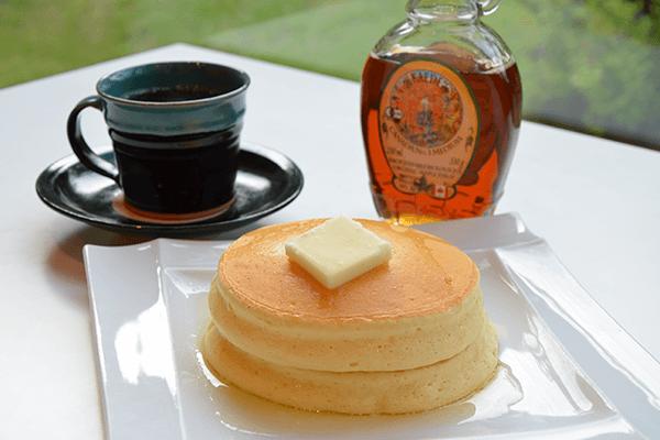 大江ノ郷自然牧場のパンケーキとお土産