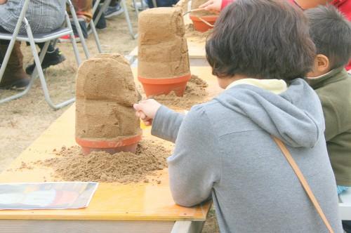 ミニ砂像つくり