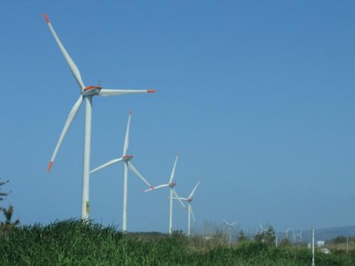 北条砂丘風力発電所風車見学