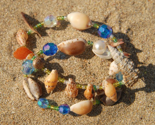 貝と海のアクセサリー体験