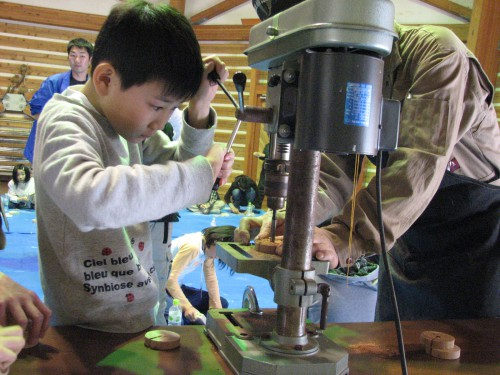 梨の木の木工体験